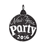 Invitation to the New Year party, 2016, typography, poster Stock Images