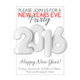 Invitation to New Year party with white numbers Stock Photo