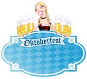 Invitation to the Oktoberfest Royalty Free Stock Images