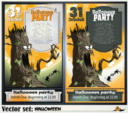 Invitation to a party in honor of a holiday Halloween Royalty Free Stock Photos
