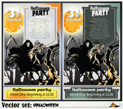 Invitation to a party in honor of a holiday Halloween Royalty Free Stock Photo