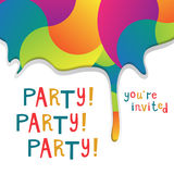 Invitation to a party Royalty Free Stock Photography