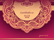 Invitation to the purple tones. Vector background Royalty Free Stock Photography