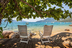 Invitation to relax - View of brazilian coastline Royalty Free Stock Images
