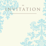 Invitation to the wedding. Ornate damask background. vector illustration Stock Image