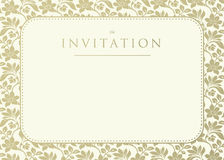 Invitation to the wedding. Ornate damask background. vector illustration Stock Photos