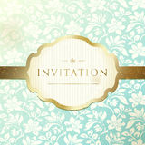 Invitation to the wedding. Ornate damask background. vector illustration Royalty Free Stock Photos