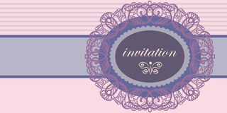 Invitation to a wedding or an anniversary Royalty Free Stock Photography
