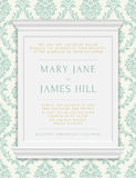 Invitation to the wedding or announcements Royalty Free Stock Photos