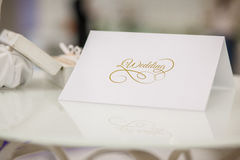 Invitation to a wedding ceremony Royalty Free Stock Photography