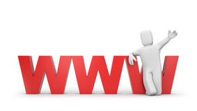 Invitation to the world wide web Stock Images