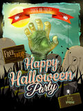 Invitation to zombie party. EPS 10 Royalty Free Stock Photos