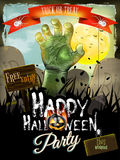 Invitation to zombie party. EPS 10 Royalty Free Stock Photo