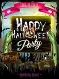 Invitation to zombie party. EPS 10 Stock Photo