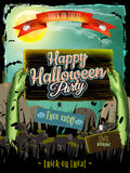 Invitation to zombie party. EPS 10 Royalty Free Stock Image