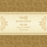 Invitation turque de mariage de concombre, or Photos stock