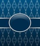 Invitation vecto dark blue ornate card Stock Photo