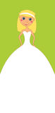 Invitation verticale de mariage Photographie stock
