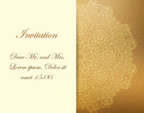 Invitation with victorian ornaments, beautiful. Set of antique greeting cards, invitation with victorian ornaments, beautiful, luxury postcards Stock Photos