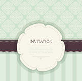 Invitation vintage background Stock Photography