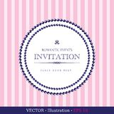 Invitation vintage card Stock Photos