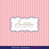 Invitation vintage card Royalty Free Stock Images
