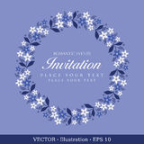 Invitation vintage card. Stock Images