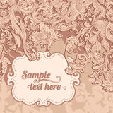 Invitation vintage card Royalty Free Stock Photo