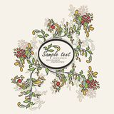 Invitation vintage card with floral elements Royalty Free Stock Images