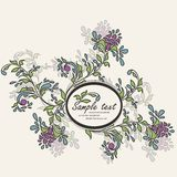 Invitation vintage card with floral elements Royalty Free Stock Image
