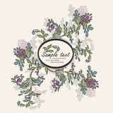 Invitation vintage card with floral elements Stock Photography