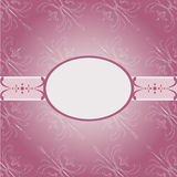 Invitation Vintage Card Frame Pink Stock Photo