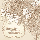 Invitation vintage floral card background Stock Photo