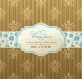 Invitation vintage label frame