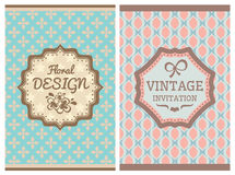 Vintage retro cards Royalty Free Stock Images