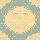 Invitation vintage style scrapbooking. Wedding invitations and announcements. Print tamplate Stock Photography