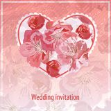 Invitation for wedding Royalty Free Stock Image