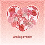 Invitation for wedding Royalty Free Stock Photos