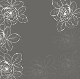 Card with abstract floral background. Stock Image