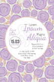 Invitation wedding card with current  trendy flowers Royalty Free Stock Photo