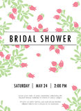 Invitation wedding card with current  trendy flowers Stock Images