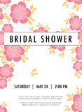 Invitation wedding card with current  trendy flowers Stock Image