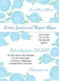 Invitation wedding card with current trendy flowers vector template Royalty Free Stock Image