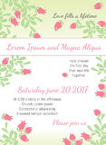 Invitation wedding card with current trendy flowers vector template Royalty Free Stock Photography
