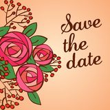 Invitation or wedding card with floral background. This is file of EPS8 format Stock Photo