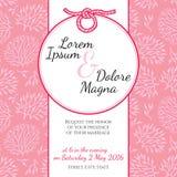 Invitation wedding card marine theme vector Royalty Free Stock Photo