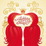 Invitation or wedding card Stock Images