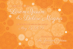 Invitation wedding card vector template Royalty Free Stock Images