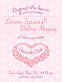 Invitation wedding card vector template Stock Images