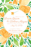 Invitation wedding card vector template Royalty Free Stock Image